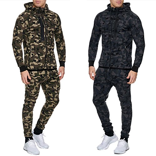 Herren Jogginganzug Army Trainingsanzug CAMOUFLAGE Sport Jogginghose