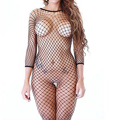 WomenSexy-Lingerie-Sexy-Erotic-Lingerie-For-Women-Kangrun-34-Sleeve-Fishnet-Jumper-Comfortable-Sleepwear-Fashion-Underwear-For-Crop-Tops-Babydoll-Bodysuit