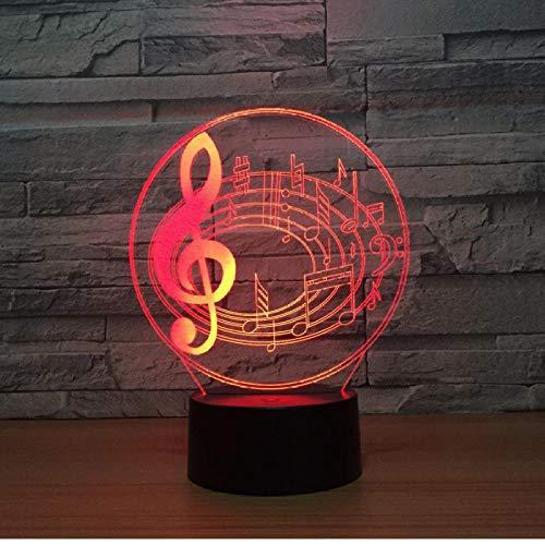 3d Stereo Notizen Visuelle Lichter Scheinwerfer Usb Netzteil Nachtlicht Schöne 7 Farbwechsel 3D Lampe -