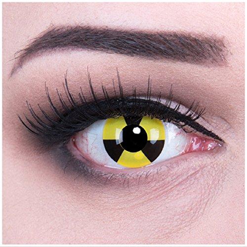 Farbige Atom Crazy Fun Kontaktlinsen crazy contact lenses Radiate 1 Paar perfekt zu Halloween. Mit gratis Behälter und 60ml Pflegemittel