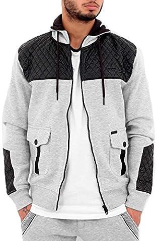 Big Dawg Special Mens Boys D-Rock Star Zip Up Hoodie G Hip Hop Skater (XL, Grey)