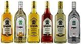 Geschenkset 6 x Krupnik: Quitte, Holunder, Haselnuss, Old Liqueur, Pflaume, Premium | Polnische Wodkas/Liköre | 5x 0,5 Liter; 1x 0,7 Liter