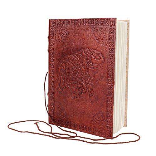 B5piel de elefante en relieve marrón oscuro Sketch diary Notebook Scrapbook Personal caja piel lazo dibujo vaca hecha a mano accesorios de cuero tradicionales papel fotográfico libro Universidad o oficina diario