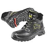 Puma Safety Shoes Borneo Black Mid S3 HRO SRC, Puma 630411-202 Unisex-Erwachsene Sicherheitsschuhe, Schwarz (schwarz/gelb 202), EU 42