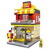 Xpixel Mini Avenue Blocks - Tienda Restaurante Hamburguesería versión MD - Juguete de Construcción - Bloques Tamaño Mini - Construye tu Propia Mini Avenida