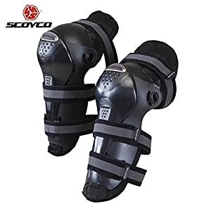 Generic Black : SCOYCO Motocross Off-Road Racing Knee Protector Guards Outdoor Sports Protective Gear Accessories Motorcycle Riding Knee Pads