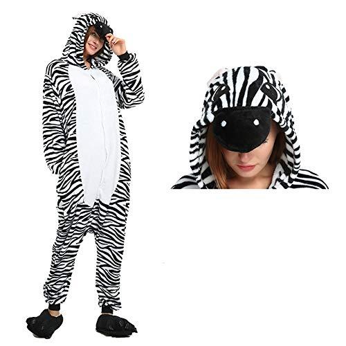 LIUJIE Winter Erwachsene Männer Frauen Unisex Schlafanzug Cosplay Halloween Home Casual Kostüm Stück Pyjamas Outfit Baumwolle Bademantel Verdickung Pyjamas,M