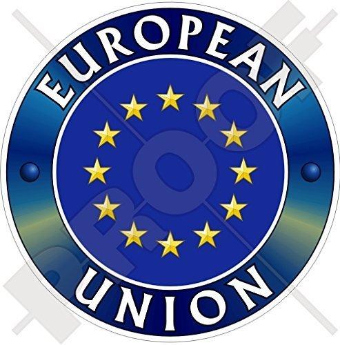 Europa EUROPÄISCHE UNION Flagge Abzeichen EU 100mm Auto & Motorrad Aufkleber, Vinyl Sticker