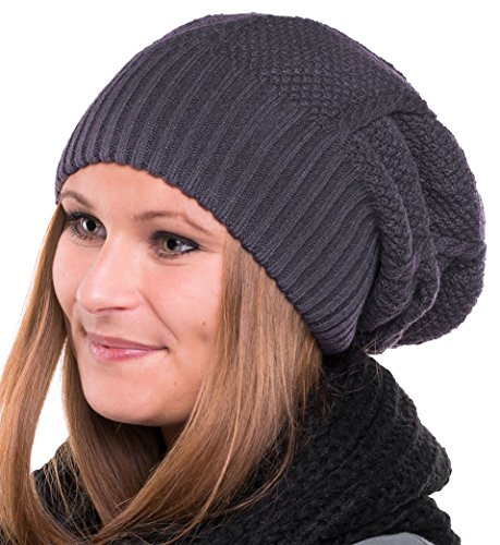Dreadlocks Mütze (Long Beanie Strick Mütze - Trendige Strickmütze unisex Winter)