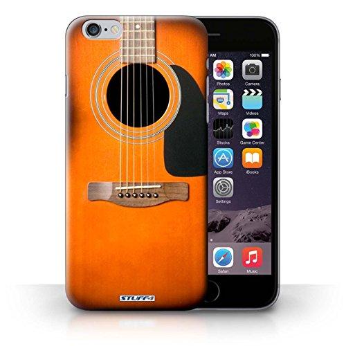 Kobalt® Imprimé Etui / Coque pour iPhone 6+/Plus 5.5 / Noir Electrique conception / Série Guitare Sunburst Acoustique
