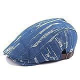 W.Z.H.H.H Deckel Frauen Baumwolle justierbare Flache Kappe Gatsby irischer Hut Gesteppte Stickerei Duckbill Newsboy Mode Hut (Color : 3, Size : Free Size)
