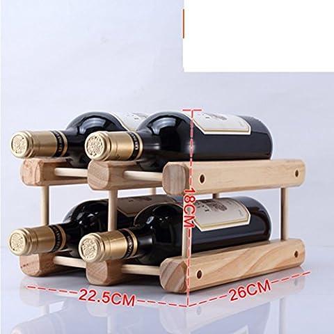 botellero de madera/estante del vino creativo/pino Decoración/muebles de estilo-H