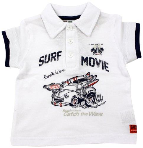 Shirt Western Junge (Jacky Kinder-Polo Shirt, Weiss, Größe 80)