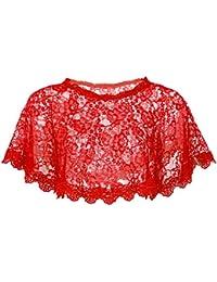 MSemis Chal de Boda Fiesta Estola de Encaje Floral para Mujer Capa Boda Bolero de Ceremonia para Vestido de…