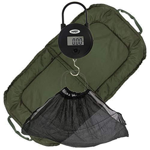 DNA NGT Coarse Carp Fishing Beanie Unhooking Mat Bundle + Digital Weighing Scales & Mesh Fish Safe Sling. Perfect to...