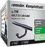 Rameder Komplettsatz, Anhängerkupplung Starr + 13pol Elektrik für VW Golf III Cabriolet (113011-00493-2)