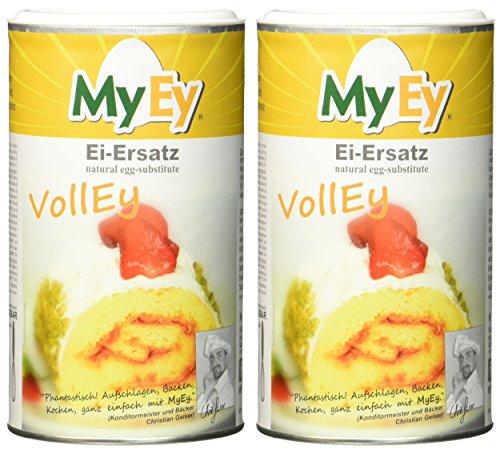 MyEy VollEy Ei-Ersatz, natürlich & voll aufschlagbar, universell einsetzbar, lactosefrei & vegan, 2er Pack (2 x 200 g) - 2