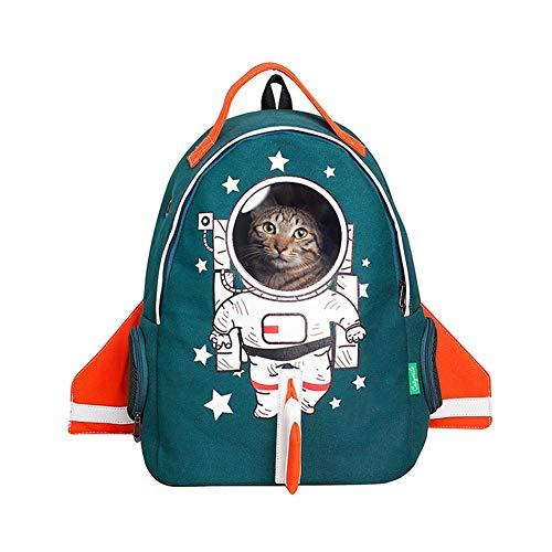Ryan zaino dell'animale domestico, zaino dell'animale domestico dell'animale domestico per la doppia borsa a tracolla di modo respirabile di viaggio all'aperto (colore : green(m))