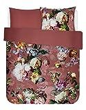 ESSENZA Bettwäsche Fleur Blumen Pfingstrosen Tulpen Baumwollsatin Rosa, 135x200 + 1 X 80x80 cm