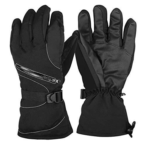 Guenx Handschuhe, Unisex Skihandschuhe Motorradhandschuhe Winter Wasserdicht Snowboard Handschuhe Warm Winterhandschuhe verstellbare Manschetten (L)