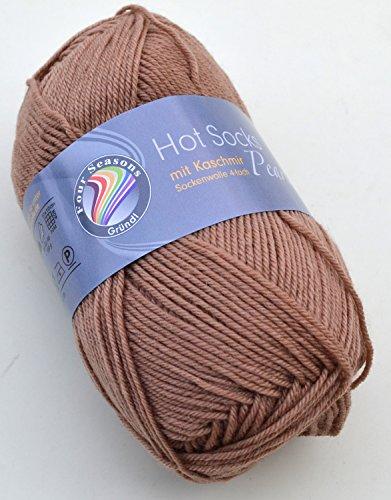 Preisvergleich Produktbild Gründl Hot Socks Pearl mit Kaschmir Sockenwolle (superweich) 75 % Schurwolle, 20% Polyamid, 5% Kaschmir Farbe 06 Hellbraun