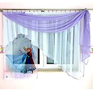 Tkaniny GFE 3 Disney 3teilige Kindergardine Mit Schal/Kindergardine Für  Mädchen/Kinder Mit
