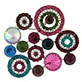 Brooches Store Multicoloured Crystal Circle Fashion Brooch