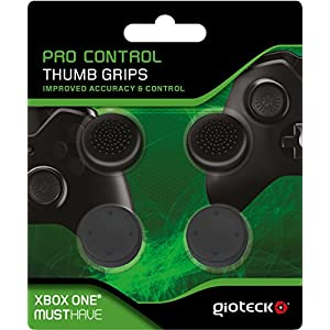 Gioteck PCTGXB1-11-MU Pro Control Gummi Thumb Grips Daumengriffe für Xbox One Schwarz
