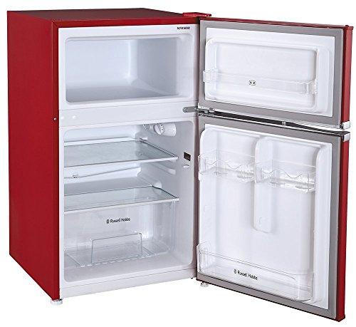 Russell Hobbs RHUCFF50R 50cm Red Under Counter Fridge Freezer – 2 Year Manufacturer Warranty