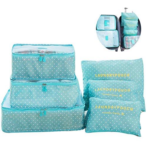 Switty 6pcs viaje bolsas de almacenamiento de ropa que embala maleta d