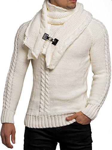 Felpa da uomo maglioncino a maglia invernale di maglia giacca felpa Tazzio maglia a maniche lunghe Club wear a maniche lunghe maglietta camicia Pulli Kosmo Giappone Style Fit Look natur
