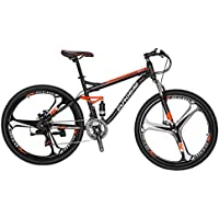 Eurobike S7 - Bicicleta de montaña para Bicicleta MTB (21 velocidades, Estructura de Acero