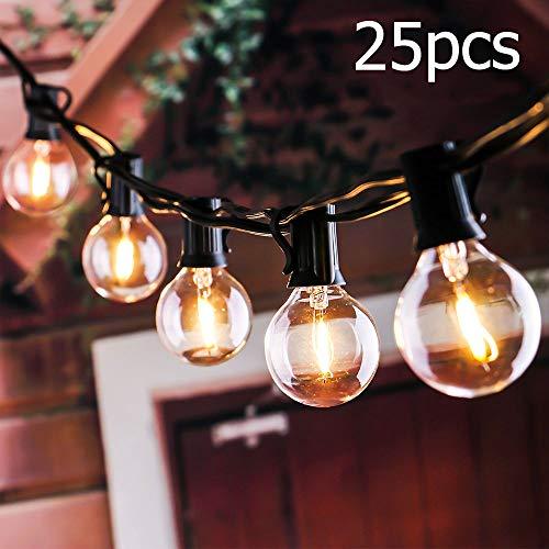 Cadena de Bombillas, Tronisky Luces de Cadena G40 Guirnaldas Luminosas de Exterior...