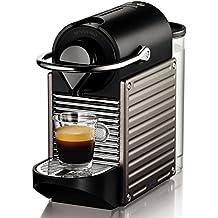 Krups Nespresso Pixie XN3005 - Cafetera de cápsulas, 19 bares, 2 programas de café, bandeja extraíble, indicador luminosos de depósito vacio, función de autoapagado, color titán