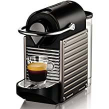 Nespresso Pixie XN 3005, cafetera de cápsulas, 19 bares, Krups, apagado automático, ergonómica, inteligente, color titan