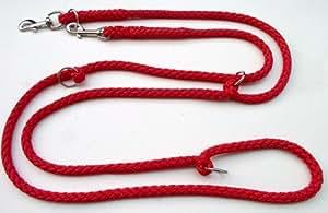 Hundeleine Doppelleine 2,80m 4fach verstellbar rot