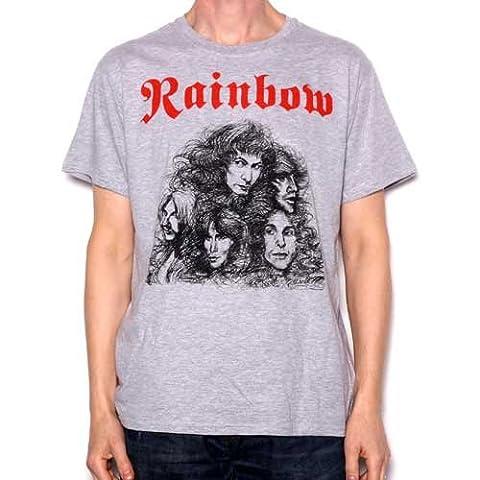Rainbow T Shirt - Long Live Rock & Roll 100% Official