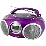 LECTEUR RADIO CD MP3 USB VIOLET