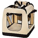 "TecTake Faltbare Hundetransportbox Transportbox beige 60x42x43cm ""M"" - 3"
