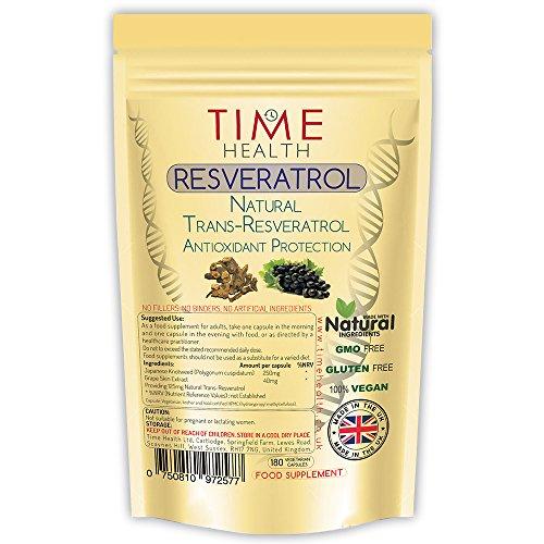 Trans Resveratrol – 180 Capsules – 3 Month Supply – Split Dosage for maximum benefits from Trans Resveratrol – UK Manufactured