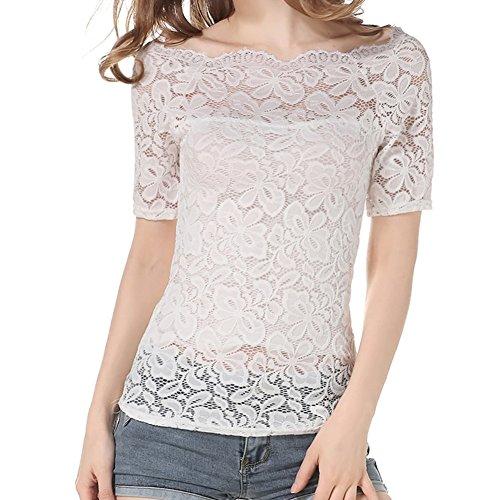 Swallowuk Damen T-Shirt weiß weiß S