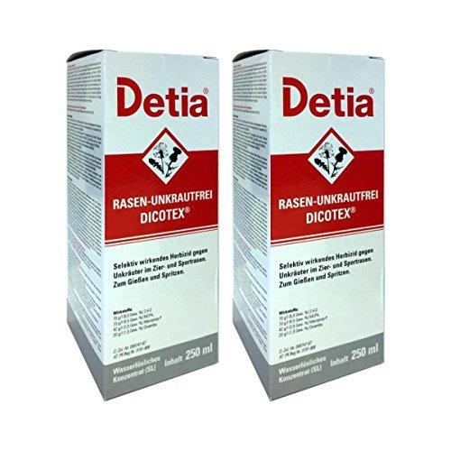 Detia - Rasen-Unkrautfrei Dicotex - 2 x 250 ml