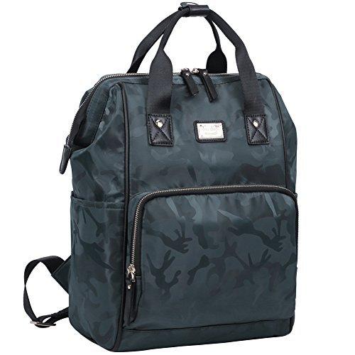 bd0707cbda1a shiu shiue Wasserdichter Schulrucksack Mädchen Jungen Reisetasche Student  Daypack für 13,3-15,6 Zoll Laptop - mehrfarbig - 40 cm