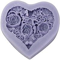 Bluelover Muffa Del Cioccolato Della Rosa Del Silicone Del Fiore