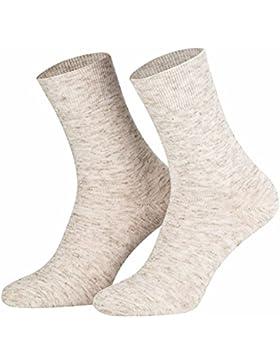 Socken, 8er Pack Leinensocken extra weich (39-42) (43-46) natur-malange