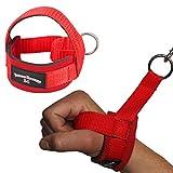 1 Stück Einhand Kabelzug Griffe / Trainings Griff / Latzug Einhandgriff ROT