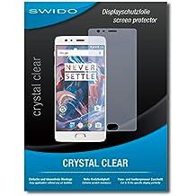 """2 x SWIDO® Protector de pantalla OnePlus 3T Protectores de pantalla de película """"CrystalClear"""" invisible"""