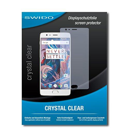Galleria fotografica 3 x SWIDO® Pellicola Protettiva OnePlus 3T Screen Protector Pellicola Protettiva Film CrystalClear invisibile