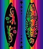 asciugamano da spiaggia-Grand Caraibi *-(90x 170cm) Cotone egiziano 100% di alta qualità, Morbido AL Tatto, Molto assorbente E asciugatura rapida + Pack calzini 90_x_170_cm Tavola da Surf 405 C