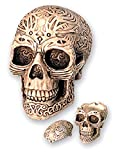 KATERINA PRESTIGE- CENDRIER Crâne Tribal PM avec Couvercle, BROHF0013, Multi